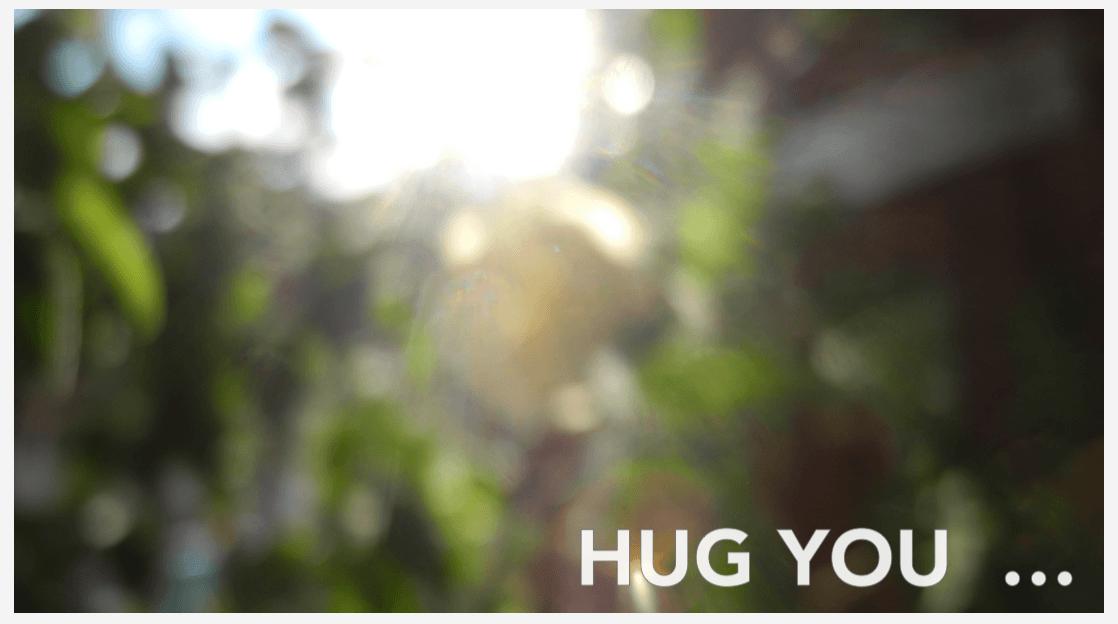 hug you … Bio Baumwolle